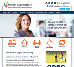 marketing agency watford examples of our work uxbridge rickmansworth harrow specialist marketing for sme & b2b Vogue Accounting