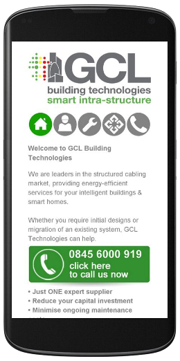 marketing agency watford examples of our work uxbridge amersham harrow specialist marketing for sme & b2b gcl-cabling-mobile-site