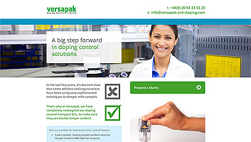 versapak anti doping products ryall marketing SME specialists rickmansworth